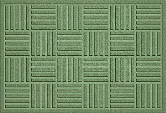 Bungalow Flooring AquaShield Large Parquet Mat, 2 x 3, Light Green
