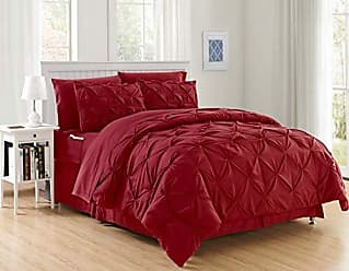 Elegant Comfort Luxury Best, Softest, Coziest 8-Piece Bed-in-a-Bag Comforter Set on Amazon! Elegant Comfort - Silky Soft Complete Set Includes Bed Sheet Set with Double Sided Storage Pockets, King/Cal King, Burgundy