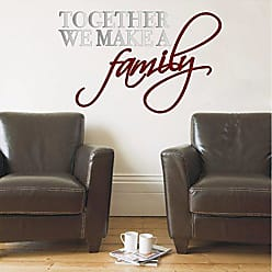 The Decal Guru Together We Make Family Quote Wall Art Decal Sticker Removable Decorative Graphic Transfer Saying (Silver & Burgundy, 14x24 inches)