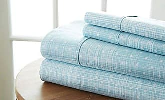 iEnjoy Home Simply Soft 4 Piece Sheet Set Polkadot Patterned, Full, Aqua