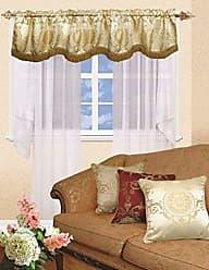 Violet Linen Prestige Damask Window Valance, 60 x 15, Beige