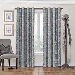 Ellery Homestyles ECLIPSE Blackout Curtains for Bedroom - Nadya 52 x 108 Insulated Darkening Single Panel Grommet Top Window Treatment Living Room, Smokey Blue