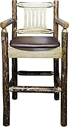 Montana Woodworks MWGCBSWCASSADD Glacier Country Collection Captains Barstool with Upholstered Seat, Saddle Pattern