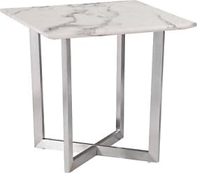 Ashley Furniture Faux Marble End Table, Ivory