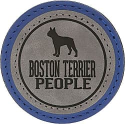 Pavilion Gift Company 67638 2.5 Inch Round Dog Refrigerator Magnet Boston Terrier People Blue