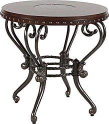 Homelegance Jenkins Metal and Wood Round End Table, Cherry