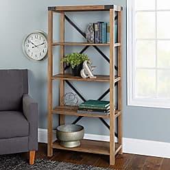 Walker Edison WE Furniture AZS64MXRO Bookshelf, 64, Rustic Oak