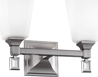 Feiss Sophie 2 Bulb Brushed Steel Vanity Strip