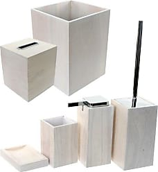 Nameek's Gedy PA1180-02 Papiro Wooden Bathroom Accessory Set, White