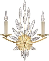 Fine Art Lamps 881750-1ST Lily Buds 2 Light 22 Tall Wall Sconce Gold