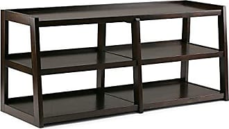 Simpli Home Simpli Home 3AXCSAW-04W-BR Sawhorse Solid Wood 60 inch wide Modern Industrial TV media Stand in Dark Chestnut Brown For TVs up to 65 inches
