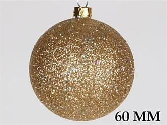 Queens of Christmas WL-ORN-BLKG-60-GO-W 60mm Glitter Gold Ball Ornament with Wire (Pack of 12)