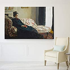 WEXFORD HOME Claude Meditation, or Madame Monet on The Sofa Wrapped Canvas Art Print 18 x 27 Multicolor