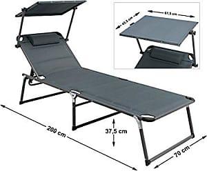 Ambientehome Luxus Aluliege Dreibeinliege Mit Dach Gepolstert Mit Quick Dry  Foam