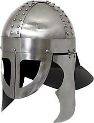 Urban Designs Imported Antique Replica Norse Viking Warrior Battle Armor Helmet, Silver