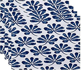 E by Design E by design Ina Floral Print Placemat 18 x 14 Blue