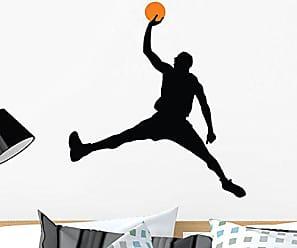 Wallmonkeys WM283383 Basketball Player Silhouette-67 Peel and Stick Wall Decals, 24 H x 22 W - Medium