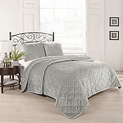 Ellery Homestyles Beautyrest Collette 108-inch by 96-Inch 3-Piece King Coverlet Set, Silver