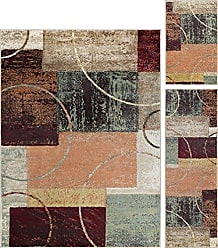 Tayse Conner Contemporary Abstract Multi-Color 3-Piece Area Rug Set, 3-Piece Set