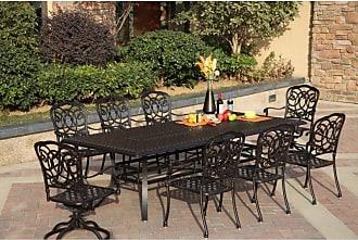 DARLEE Outdoor Darlee Florence 9 Piece Aluminum Rectangular Patio Dining Set - 201020-9PC-88XL