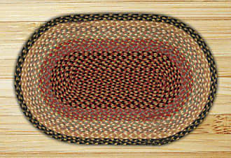 Earth Rugs 06-057 Oval Rug, 4 x 6, Burgundy/Gray/Crème