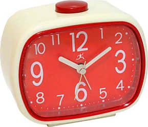 Infinity Instruments Retro Alarm Clock, Cream