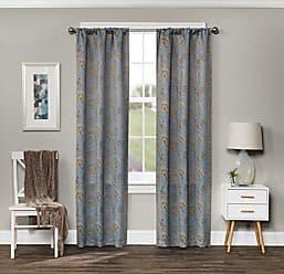 Ellery Homestyles KOZDIKO Eclipse Amara Blackout Window Curtain Panel, 37 x 63, Grey