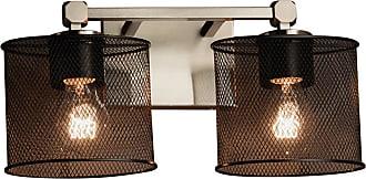 Justice Design Wire Mesh Tetra MSH-8422-30 Vanity Light - MSH-8422-30-NCKL