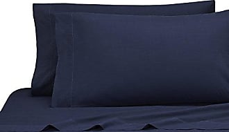 Kassatex LMB-KPC-NVY Lorimer Bedding King Pillowcase Set of 2, Navy