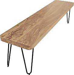 WOHNLING Esszimmer Sitzbank Massiv Holz Akazie 120 X 45 X 40 Cm Design Holz