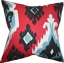 The Pillow Collection Edwige Ikat Bedding Sham Red King//20 x 36