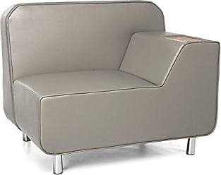 OFM 5000L-TAU-BZ Serenity Series Left Arm Lounge Chair, Bronze Tablet, Taupe