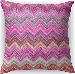 Kavka Designs Pink Chevron Accent Pillow - IDP-DI16-16X16-MGT2039