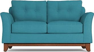 Apt2B Marco Twin Size Sleeper Sofa - Leg Finish: Pecan - Sleeper Option: Deluxe Innerspring Mattress - Teal Performance Fabric - Sold by Apt2B - Modern