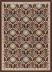 Tayse Leola Transitional Floral Brown Non-Skid Rectangle Area Rug, 5 x 7