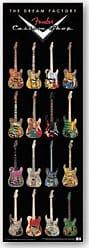 Buyartforless Buyartforless Fender Guitars The Dream Factory Music Poster 12x36