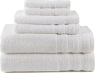 Westpoint Home EGYPTIAN COTTON DRYFAST 6 PIECE TOWEL BY MARTEX - 2 Bath Towels, 2 Hand Towels, 2 Wash Cloths - Premium, Luxurious, Top Hotel Quality - Soft, Absorbent, Machine Washable, Quick Drying - White