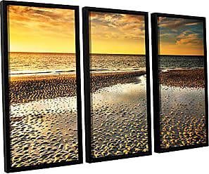 ArtWall 3 Piece Steve Ainsworths Returning Home Floater Framed Canvas Set, 36 x 54