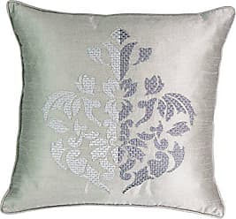 Ellery Homestyles Beautyrest Chacenay Embroidered Decorative Pillow, 18 x 18, Paloma Grey