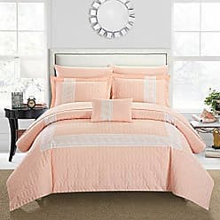Chic Home Titian 8 Piece Comforter Hotel Collection Hexagon Embossed Paisley Print Border Design Bed in a Bag-Sheet Set Decorative Pillow Shams Included, King, Blush