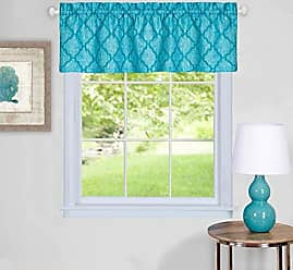 Sweet Home Collection Valance Contemporary Design Curtain, Turquoise