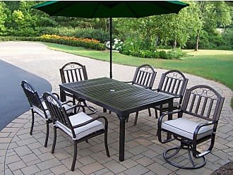 Oakland Living Outdoor Oakland Living Rochester 67 x 40 in. Patio Dining Set with 2 Swivel Chairs and Cantilever Umbrella Burnt Orange - 6137-3830-6128-4110-OR-14-HB