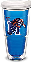 Trevis Tervis 1063934 Memphis Tigers Logo Tumbler with Emblem and Frosted Lid 24oz, Blue