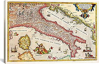 iCanvas 11185 Antique Map of Italy Canvas Print, 18 x 0.75 x 26