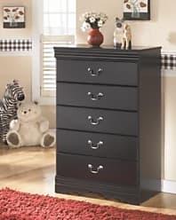 Ashley Furniture Huey Vineyard Chest of Drawers, Black