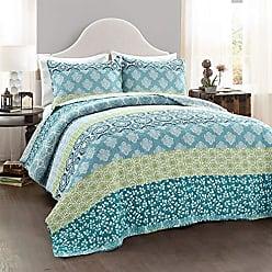 Turquoise Briley Quilt 3 Piece Set