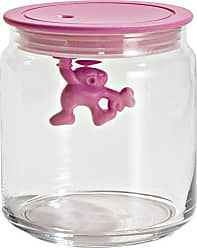 Alessi A di Alessi Gianni 3-Cup Glass Jar with Plastic Lid, Pink