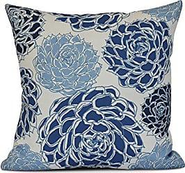 E by Design E by design Olivia Flora Print Pillow, 16 x 16, Blue