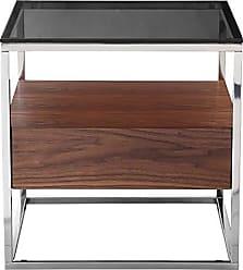 Moe's ER-2044-20 Cubix Side Table Dark Brown