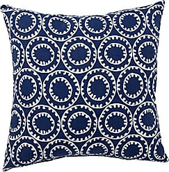 Jaipur Geometric Pattern Blue Polyester Polly Fill Pillow, 18-Inch x 18-Inch, Twilight Odl Ring A Bell
